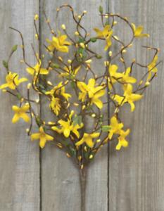 "Spring Yellow Forsythia and Pip 18/"" Spray"