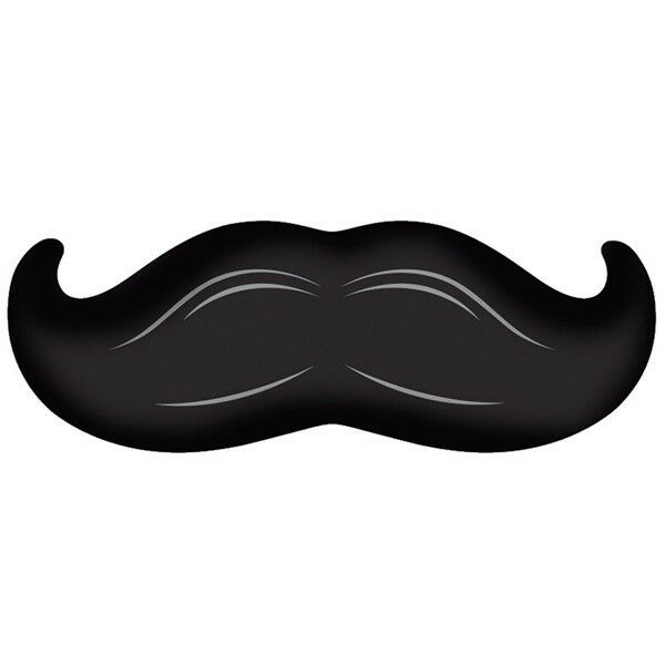 Party Supplies Happy Fathers Day Moustache Madness 90 cm Shape Foil Balloon