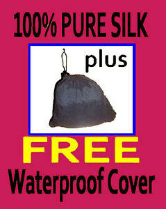 100-Pure-Silk-Liner-GUARENTEED-plusWaterproof-cover-Oz-Made-fabulous-Slate-Gray