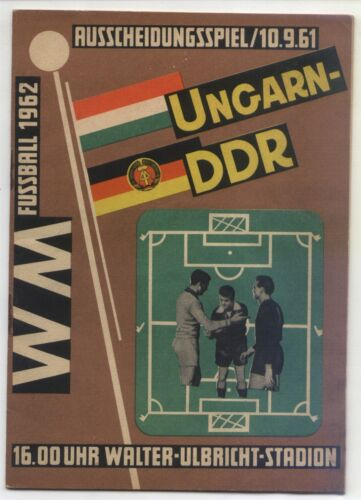 10.09.1961 East Germany Hungary in Berlin, World Cup Qualifying