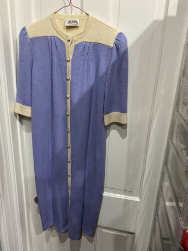 St. John Vintage Short Sleeve Sweater Dress