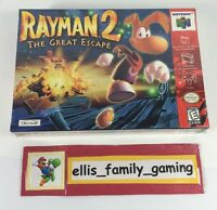 Rayman 2 The Great Escape Nintendo 64 N64 Brand Factory Sealed Ships Fast