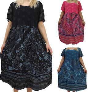 Tolles Damen Kleid Größe 46 48 50 52 54 Kleider Übergröße Bumenmuster Spitze  eBay