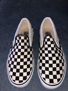 433253f04f VG Mens Vans Vault OG Classic Slip-on Checkerboard White Black Size ...