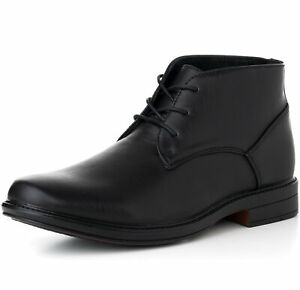 Alpine-Swiss-Mens-Ankle-Boots-Dressy-Casual-Leather-Lined-Dress-Shoes-Lace-up-NW
