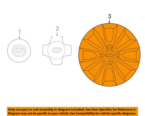 HYUNDAI OEM 15-17 Accent Wheels-Wheel Cover 529601R100