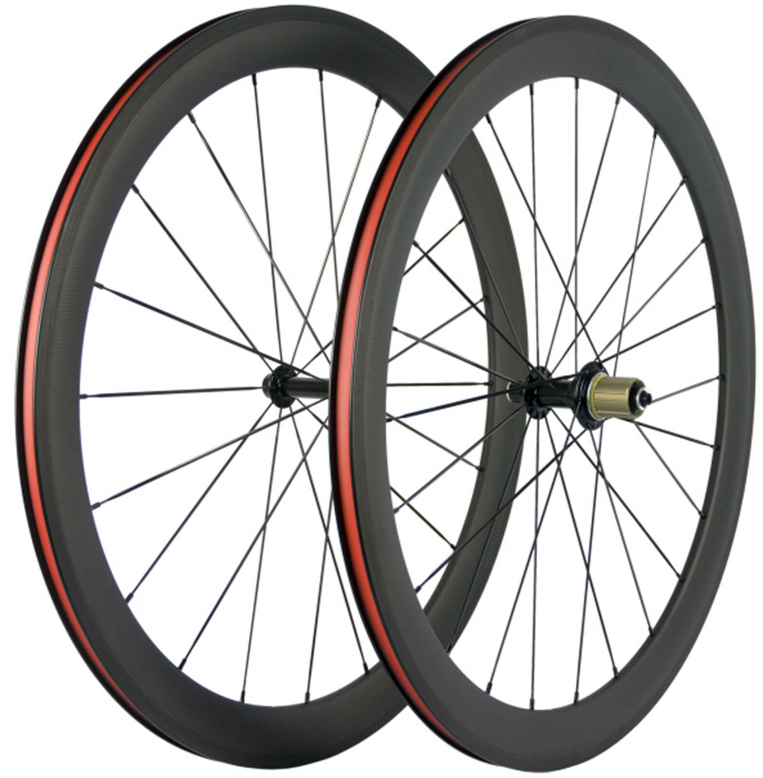 Full Carbon Fiber Wheels 50mm  Clincher Bicycle Wheelset 700C Bike For Shimano  free shipping & exchanges.