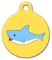 Shark Attack - Custom Personalized Pet Id Tag For Dog And Cat Collars