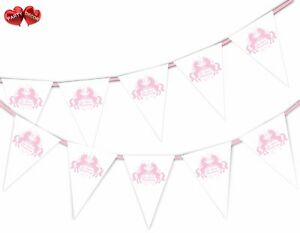 On-Your-Christening-Unicorn-Pink-Themed-Bunting-Banner-15-flags-by-Party-Decor
