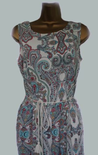 NEW M*S  M*RKS AND SPENCER JUMP SUIT PLAY SUIT BOHO SUMMER SUN BLUE IVORY  10-22