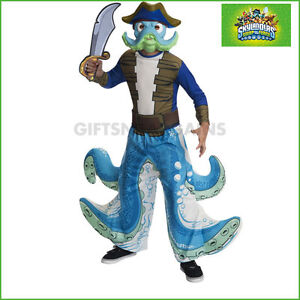 Image is loading Skylanders-Wash-Buckler-Costume-Kids-Pirate-Octopus-Boys- & Skylanders Wash Buckler Costume Kids Pirate Octopus Boys 5-7y S: M ...