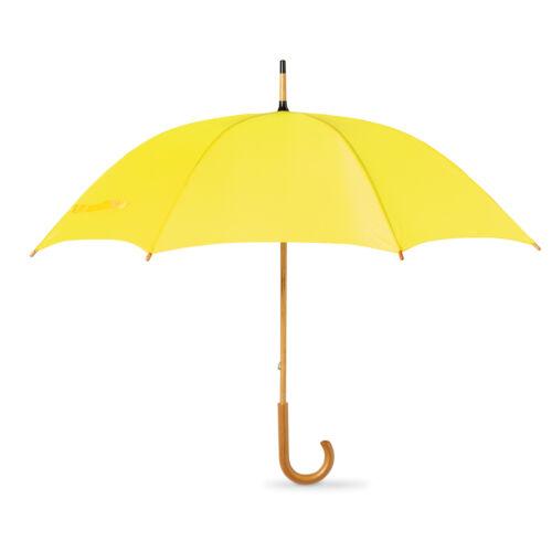 CLASSIC Umbrella storto MANIGLIA IN LEGNO-MANUALE Brolly WALKING sposa e sposo