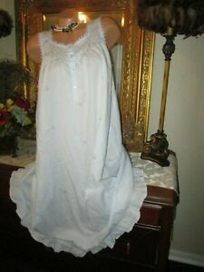 vintage adonna sz m cotton sleeveless nightgown gown dress