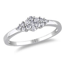 Amour Sterling Silver 1/4 Ct TDW Diamond Promise Ring H-I I2-I3