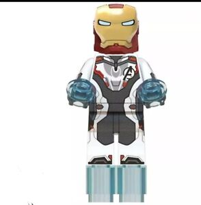 Iron Man Minifigure White Mask Toy