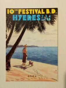 carte-postale-TINTIN-10eme-festival-BD-Hyeres-sept-88