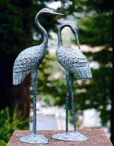 Charmant Image Is Loading Brass Love Crane Pair Sculpture Indoor Outdoor Garden