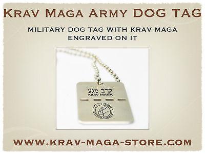 LIMITED! ISRAELI ARMY DOG TAG KRAV MAGA ENGRAVED ON IT