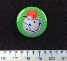 Pin Badge Button Baseball Smileyworld Lovely Humoristic Design. Metal