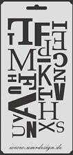 Scrapbooking Schablone S-157  Buchstaben ~ Stencil ~ UMR-Design