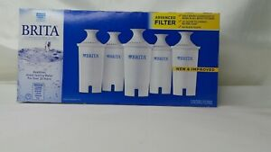 5-Pack-Brita-Pitcher-Replacement-Advanced-Filters-New-In-Box