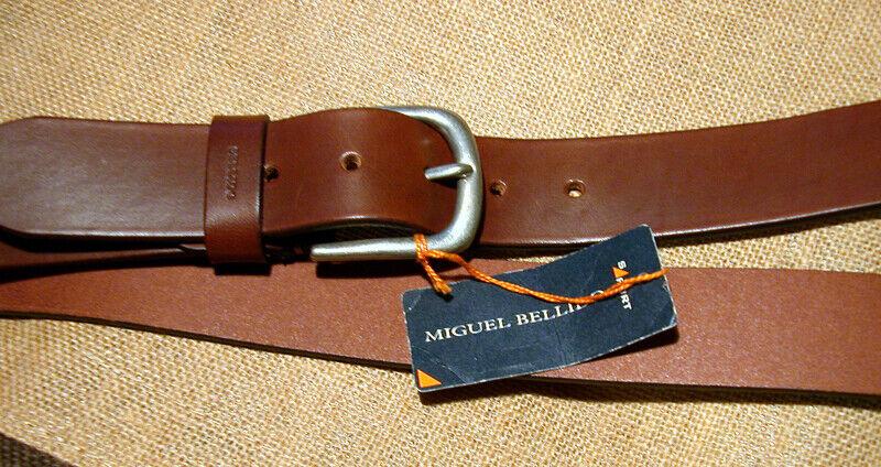 brauner weicher Ledergürtel mit Schnalle v Migueal Bellido Spanien langer Gürte