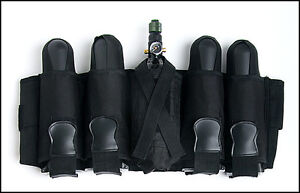 Black 4+1 Pod Ejector Tank Pack Harness + 4-130 Round Pods POD HAULER Paintball MhtsJHQC-07164012-534502316