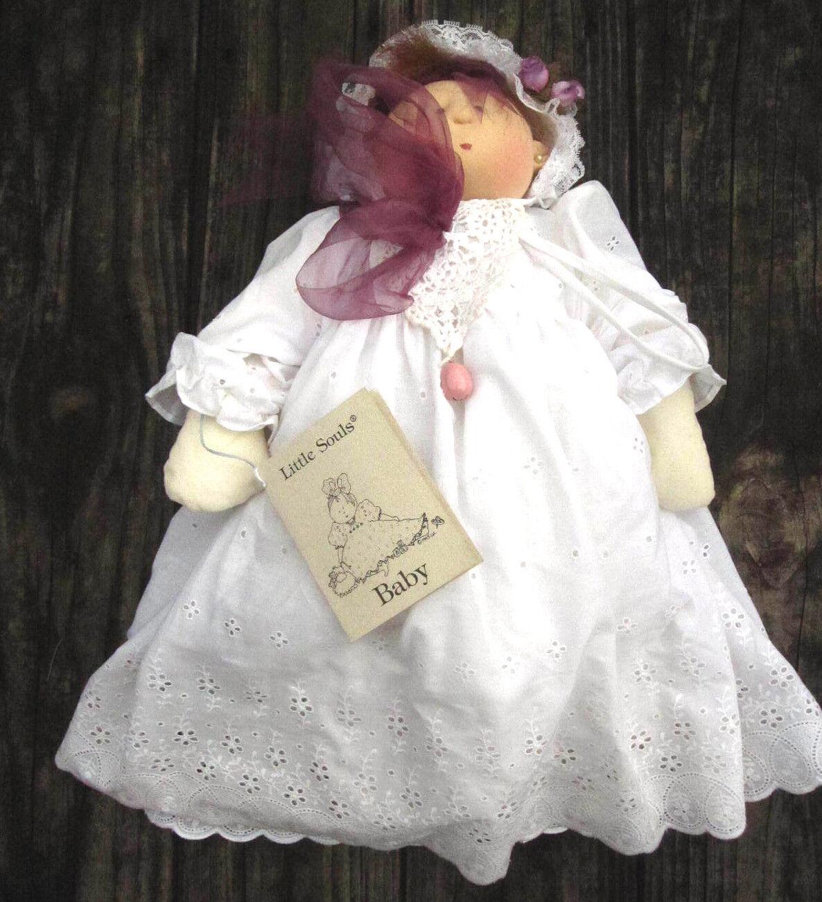 Gretchen Wilson LITTLE SOULS Soft Sculpture Infant Doll 1995 Artist Signed