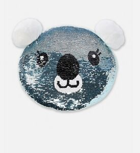 Wondrous Details About Girls Justice Blue Sequin Koala Flip Pillow Room Decor Bling Cute Stuffed Plush Download Free Architecture Designs Rallybritishbridgeorg