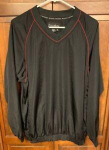 FootJoy-FJ-Men-M-Pullover-Windbreaker-V-Neck-Golf-Jacket-Black-Pockets