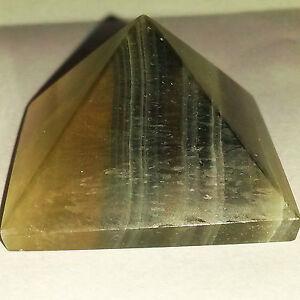 40mm-Striped-Rainbow-Fluorite-Pyramid-Healing-Reiki-Health-Meditation