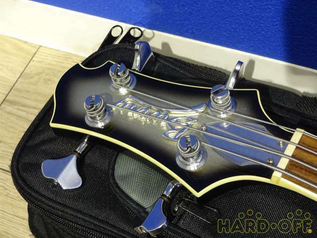 BURNY KRS-verdad Janne Janne Janne Da Arc Ka-yu Bajo Eléctrico Guitarra Con Estuche Blando c23473