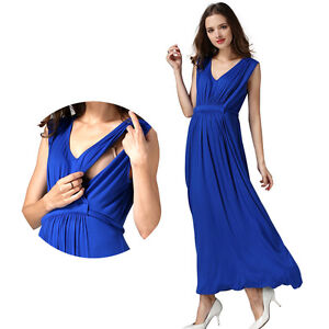 4396404868de0 Image is loading Maternity-Dresses-Breastfeeding-Nursing-Dress-For-Pregnant -Womens-
