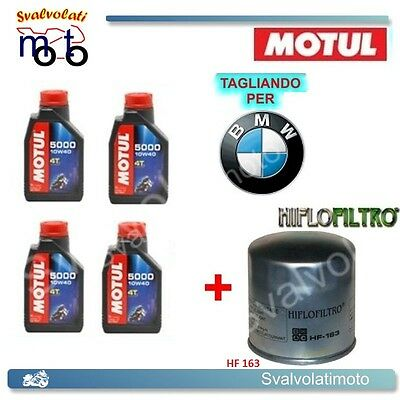TAGLIANDO FILTRO OLIO + 4LT MOTUL 5000 10W40 BMW K-1200 RS SE 2002 2003 2004