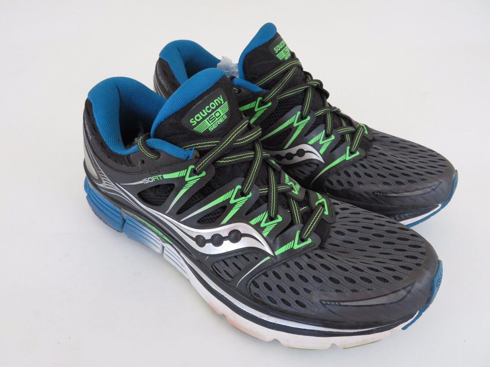 Saucony Triumph ISO para hombre Correr Atléticos Zapatos gris Negro Slime S20262-4