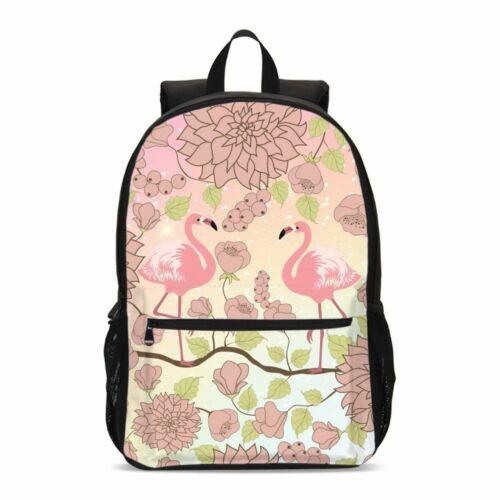 Flamingo Kids School Backpack Girls Teenage Insulated Lunch Bag Pen Case Lot