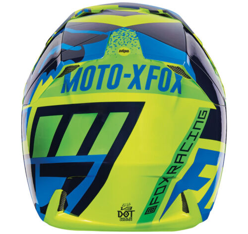 Blau/Grün Kinder Quad Bmx Mips Reithelme Youth Fox V3 Division Motocross Mx Helm