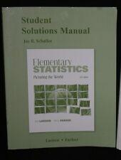 Student Solutions Manual Jay Schaffer Elem Statistics Picturing World 5th Ed
