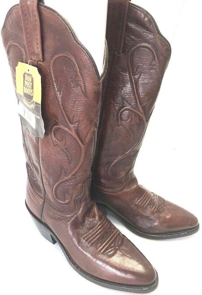 DAN POST DP 3211 en cuir marron Cowgirl Western bottes Femme Taille 6.5