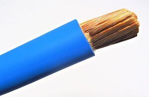 10/' 1//0 AWG WELDING//BATTERY CABLE BLUE 600V MADE IN USA COPPER EPDM JACKET