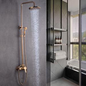 Retro Duschsystem Duschkopf Handbrause Duscharmatur Dusche Duschset