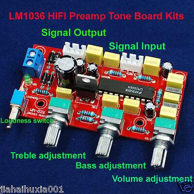 LM1036 HIFI Preamp Tone Board Bass Treble Volume Control Pre-amplifier Board Kit