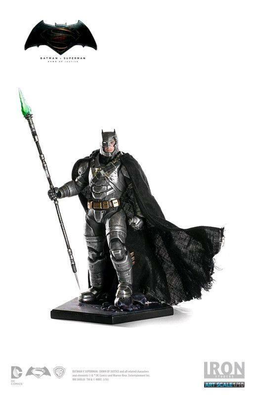 DC Iron Studios Batman v súperman Armorojo Batman Battle 1 10 Scale Statue