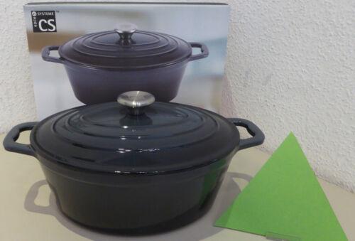 Cast Iron Roaster Xanten 27 cm Pot Black-Grey Induction Stewing Pan New