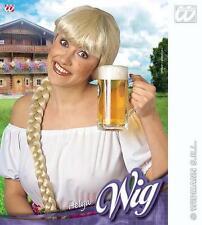Ladies Blonde Plat Wig Oktoberfest Beer Festival German Helga Fancy Dress