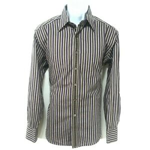 Robert-Graham-Shirt-Mens-Size-L-Large-LS-Flip-Cuff-Button-Up-Multicolor-Stripes