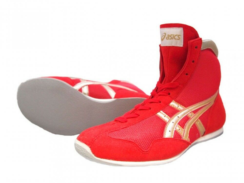 Asics Boxing shoes EF Short type Original color Red X gold x edge red