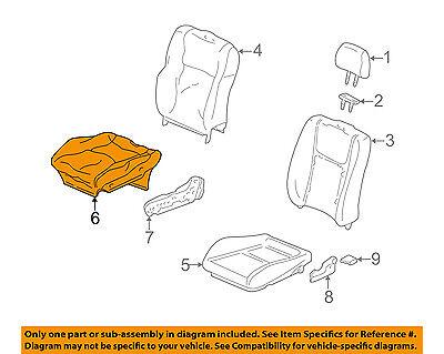 Honda Genuine 81531-S5D-A11ZA Seat Cushion Trim Cover Left Front