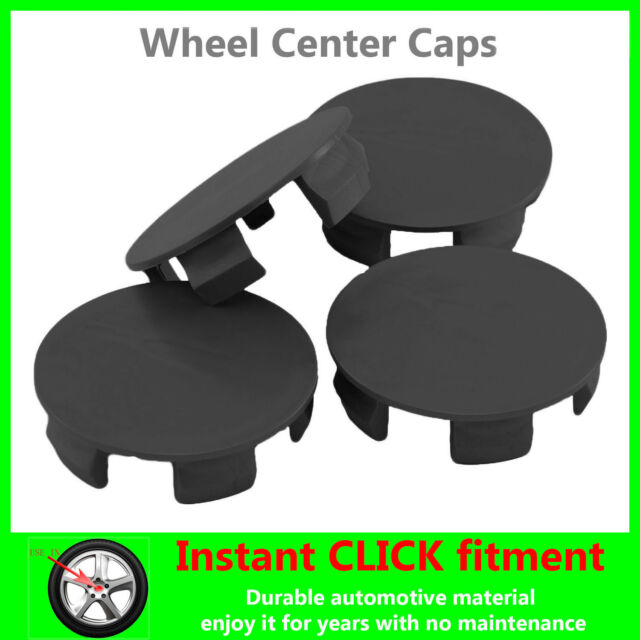 4x WHEEL Center CAPS Universal HUB Clip COVER Rims HUBCAPS ALL CAR Sizes BLACK