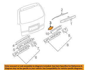 image is loading chevrolet-gm-oem-hhr-liftgate-tailgate-hatch-emblem-